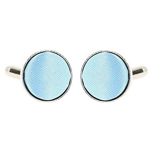 Boutons de Manchette Bleu ciel pour Homme - Accessoire Poignet Chemise et Veste de Costume - Mariage, Cérémonie