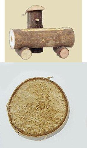 Unbekannt Krippenzubehör, Baumstammbrunnen, Länge ca. 10cm, Höhe ca. 8,5cm aus Holz mit Einer Birkenscheibe ca. Ø 3,5cm zur Deko