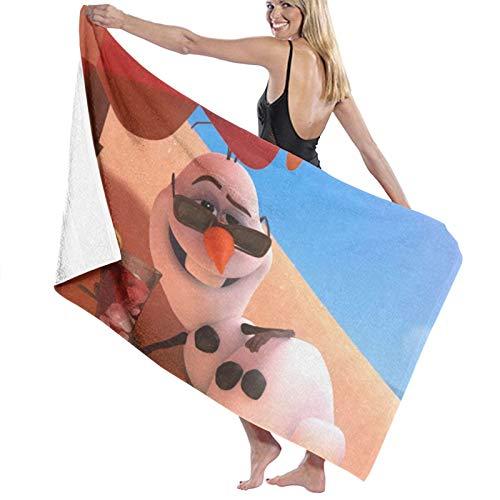 Custom made Toalla de baño de microfibra Olaf de Frozen, 70 x 140 cm, toalla de playa grande para deportes, accesorios de camping