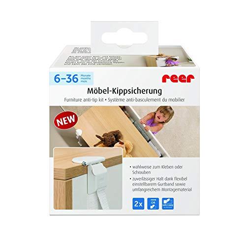 reer Möbel-Kipp-Sicherung, clevere Wand-Befestigung für Möbel, vom schwäbischen Kindersicherheits-Experten