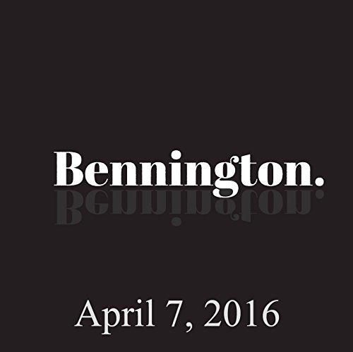 Bennington, April 7, 2016 audiobook cover art