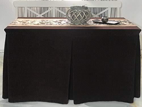 Falda para mesa camilla rectangular textura aterciopelada