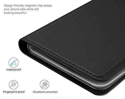 UltraProtection Schutztasche für Huawei Ascend Y200 Tasche, Schutz-Hülle, Handytasche, Wallet Cover Case, Handy Etui in Schwarz - 3