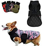 Kismaple Dog Coat Winter Reversible Waterproof Reflective Dog Clothes with Leash Hole, Adjustable Dog Jacket for Small Middle Large Dogs Jacket Warm Cotton Apparel for Cold Weather (XXL, Pink)