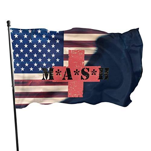 N / A Große Militärflagge,Demonstrationsflagge,Saisonale Gartenflaggen,3X5 Ft,Haus Yard Flagge,Wetterfeste Garten Banner,Mash Tv Show Serie 4077. Mobile Army Surgical Hospital Flagge