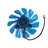 GA91O2U 85MM RX560 RX460 RX550 GPU Cooler for HIS RX460/550/560 iCooler Graphics Card Cooling (4Pin GA91O2U 85MM 40mmX40mm Pitch Blue Single Fan)