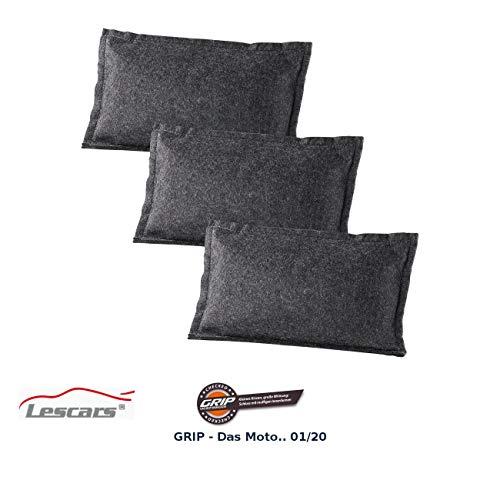 Lescars Entfeuchtungskissen: 3er-Set Luft- und Autoentfeuchter, wiederverwendbar, 3x 1 kg (Luftentfeuchter Kfz)