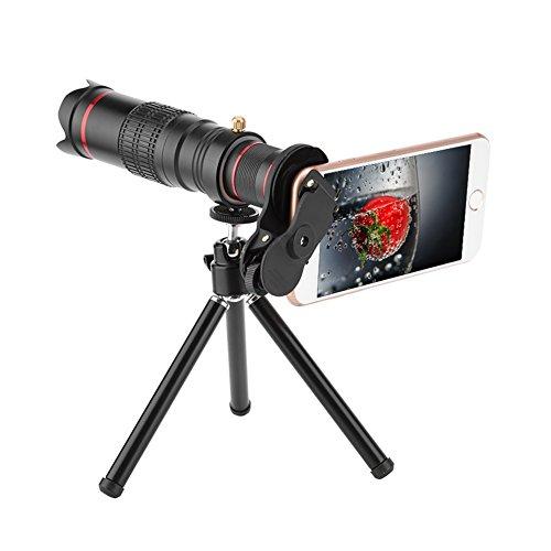 PUSOKEI Lente de la cámara del teléfono Celular 22X, 4K HD Telescopio del teléfono Celular Zoom del teléfono, Lente Universal del telescopio del teléfono Inteligente para Juegos/Conciertos/Viajes