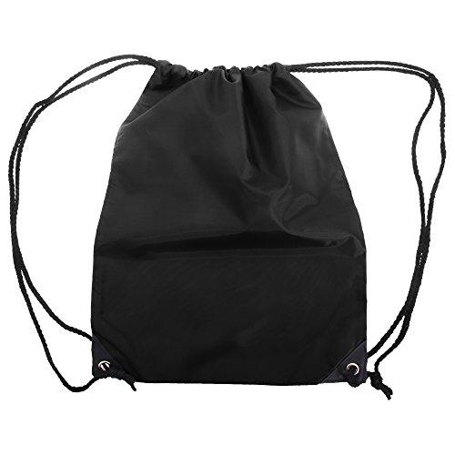 Shugon - Mochila saco/Mochila cuerdas lisa Modelo Stafford - 13 Litros (Talla Única) (Negro)
