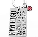 Gift for Teenager, Sweet Sixteen Gift, Teen Daughter Gift, New Driver Key Chain, Drive Safe, Make Good Choices, Birthday Gift, Girl Key Chain