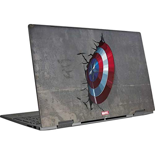 Skinit Decal Laptop Skin Compatible with HP Envy x360 Convertible 15-ed0047nr (2020) - Officially Licensed Marvel Captain America Vibranium Shield Design