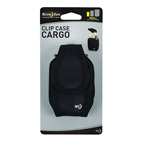 Nite Ize Clip Case Cargo Phone Holster - Protective, Clippable Phone Holder for Your Belt Or Waistband - Small - Black