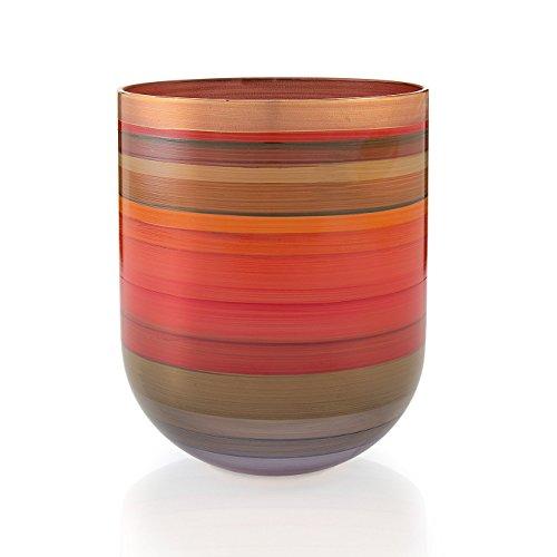 Angela nieuwe Wenen werkstaette glazen vaas, glas, kleurrijk, 16x14x14 cm