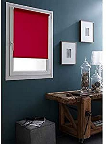 madecostore - Estor Enrollable Easy Roll, Tejido Liso, Color Rojo, 35 x 170 cm – sin perforación