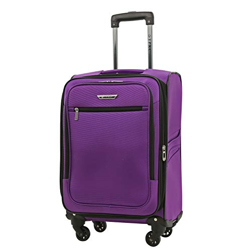Travelers Club 20 Inch Carry On, Purple, One Size