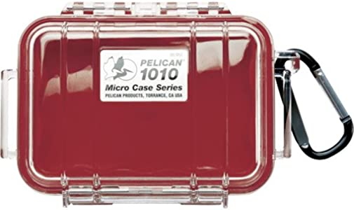 Waterproof Case Pelican 1010 Micro Case  Red Clear ...