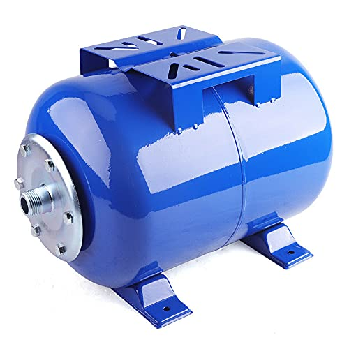 OUKANING Caldera de presión de 24 L, recipiente de expansión, recipiente de presión, membrana, bomba de agua doméstica (rango de temperatura: 0-77 °C, presión máxima de trabajo: 6 bar)
