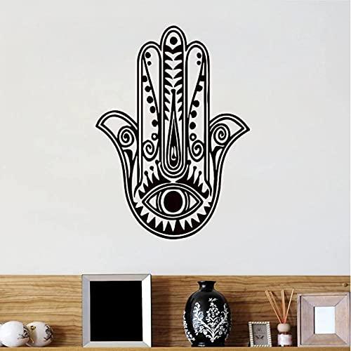 Njhjhjahdjdh 42 * 36Cm Pegatina De Pared De Mano Fatima Yoga Buda Indio Decoración Del Hogar Vinilo Murales De Arte Para La Sala De Estar Dormitorio Papel Tapiz Extraíble
