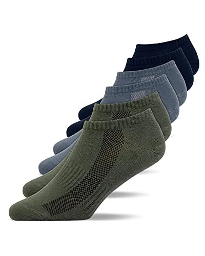 Snocks Sneaker Socken Herren und Damen (6x Paar) Füßlinge (35-38, 6x Mix4)