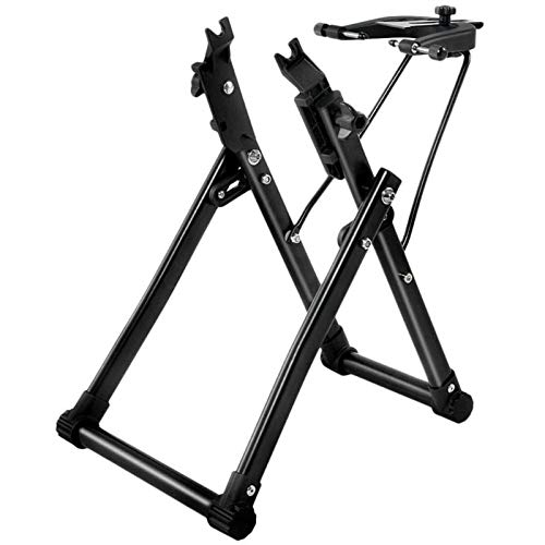 Cross Land Wheel Holder Bicycle Wheel Maintenance Wheel Truing Stand, Bike/Bicycle Tire Truing Stand, Foldable Home Mechanic Truing Stand Suitable for 16' - 29' 700C Wheels, Professional Bicycle Rim
