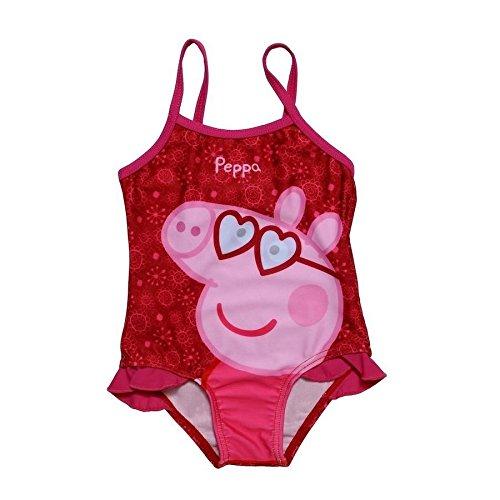 Stamion Costume da Bagno Intero Bambina Peppa Pig, col. Fucsia 1 Anno
