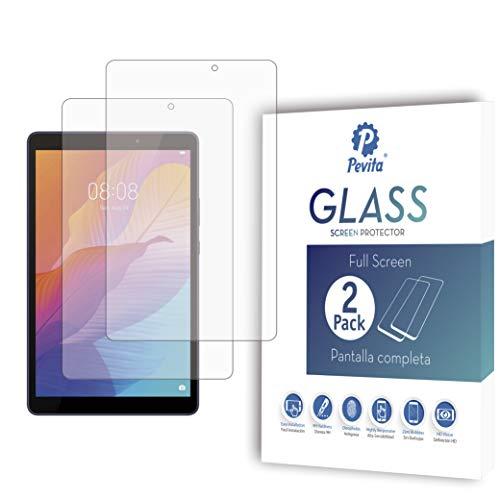 Pevita Protector de Pantalla Compatible con Huawei MatePad T8 8' [2 Packs] Cristal Templado para Huawei MatePad T8 8' Dureza 9H, Sin Burbujas, Fácil Instalación.