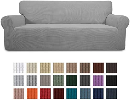 Best Easy-Going Stretch Sofa Slipcover 1-Piece Couch Sofa Cover Furniture Protector Soft with Elastic Bot