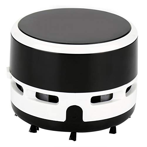 Limpiador de escritorio de oficina con batería para ordenador, aspirador de escritorio de diseño inalámbrico para dormitorio de casa(black)