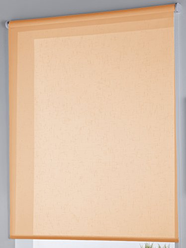Rollertor Dresde - Estor Enrollable, Tela, Mandarina, 130 x 175 cm