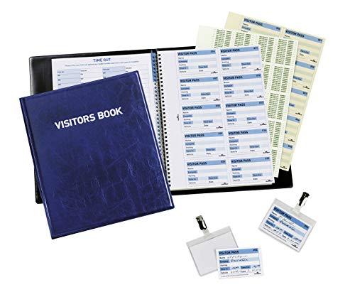 Durable 146365 Besucherbuch / Visitors Book 100 (englisch, für 100 Namensschilder)
