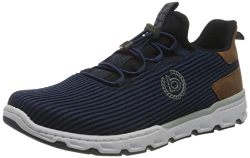 bugatti Herren 341A36606900 Sneaker, Dunkelblau, 44 EU