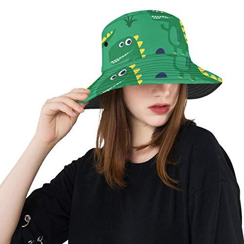 Zemivs Krokodil heftig lustig Crawl Sommer Unisex Angeln Sun Top Eimer Hüte für Kid Teens Frauen und Männer mit Packable Fischer Cap für Outdoor Baseball Sport Picknick