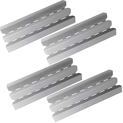 Hongso 15.875 inches Stainless Steel Heat Plate Shield Tents Replacement for Gas Grills Models by Broil-Mate, Huntington, Rebel Grill Parts, Broil King, Sterling, Patriot, Baron and Others, 4-Pack