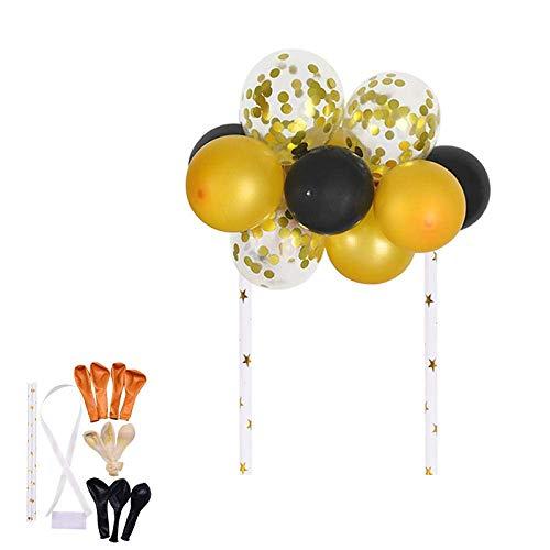 XYSQWZ 10 Pièces/Ensemble 5 Pouces Ballon Gâteau Topper Décorations De Fête d'anniversaire Enfants Or Rose Ballon Décoration De Gâteau Bébé Douche Mariage Décor-B13