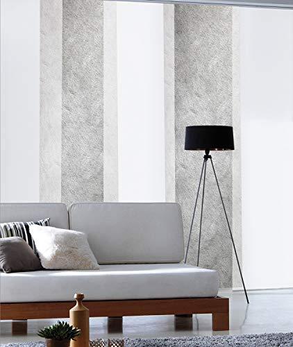 madecostore Panel japonés Tamiant Lamelles Lisos – Blanco – 60 x 300 cm