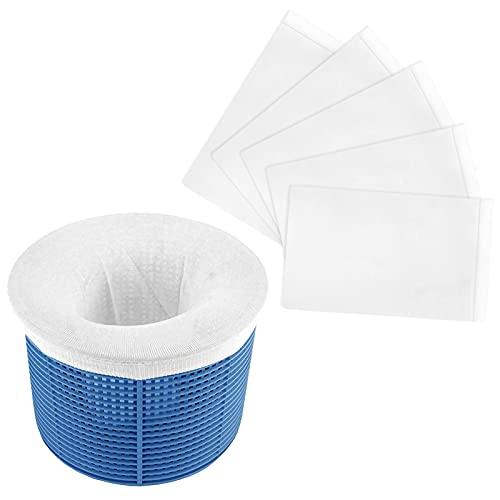 Sunshine smile Pool Skimmer socken,5 Packung Skimmer Korb Filter,Pool Skimmer Filter,Pool Filter Netz,filterschoner,körbe und Skimmer,Skimmer Korb für Schwimmbad,Nylon Stoff Filter