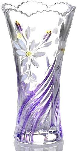 MU Jarrón antiguo Creativo Pastoral Viento Cristal Transparente Flor Enchufe Hidrófito Bambú Planta Flores Insertado Decoración del hogar