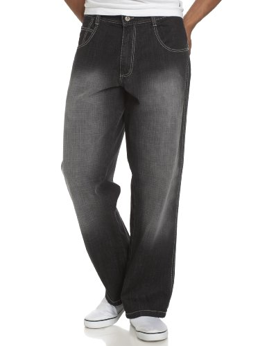 Southpole Men's Relaxed-Fit Core Jean,Black Sand,34x32