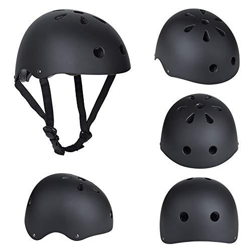 ELETECH Kids Helmet, Kids Adjustable Bike Helmet Ventilation & Adjustable Toddler Helmet for Ages 3-8 Kids Boys Girls for Roller, Scooter, Skateboard, Bicycle (Black,Large)
