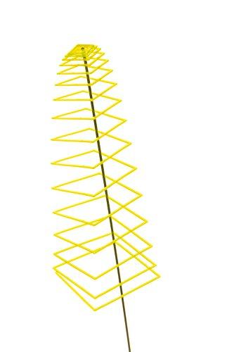 Garten Bronder e.K. 10137.0 Sunshine Piro – Soleil Spirale – Square, diamètre 20 cm, Longueur env. 70 cm, basculant Tige 1,25 m et système d'emboîtement Elvira, fabriqué en Allemagne, Jaune Citron