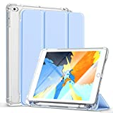 Gahwa Funda para iPad 9,7 Pulgadas 2018/2017 (6.ª/ 5.ª Generación), iPad Air 2/Air, Smart Case Cover con Función Soporte Auto-Sueño/Estela, Slim Carcasa con Soporte Integrado para Pencil - Azul Claro