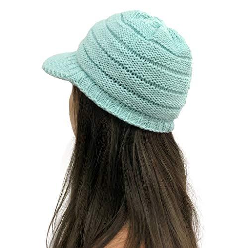 Slouch Beanie Hat Mujeres Sólido Coser Felpa Sombreros Crochet Knit Beanie Cap