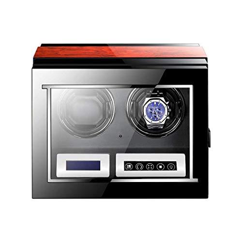 Caja enrolladora de Reloj automática Motor Mabuchi silencioso Pantalla táctil Digital LCD Control Remoto 5 Modo Giratorio Caja de visualización de Reloj