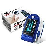 Oxímetro de Pulso de Dedo con Pantalla, Monitor Digital para Determinar con Precisión el Nivel de Oxígeno en la Sangre (SpO2) y Ritmo Cardiaco