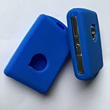 Smart Remote Silicone Car Key Case Fob for Volvo 2018 S90 XC60 XC90 VX90 Keyless Interior Car Entry Accessory : Blue