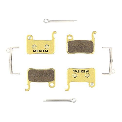 MEXITAL 2 Pares Pastillas Freno Disco sinterizado para Shimano LX M585 Deore M505 M535 M545 M595 M596 Hone M601 SLX M665 XT M765 M775 M776 Saint M800 XTR M965 M966 M975 BR-R505 S501 S500 T665
