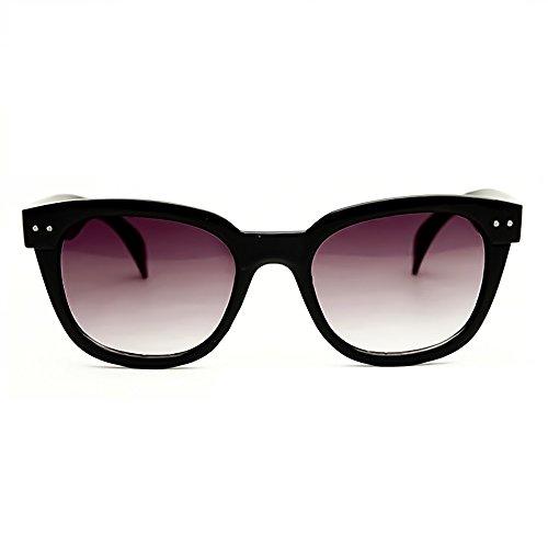 KISS Gafas de sol estilo moscot mod. SQUARE - fashion unisex VINTAGE hombre mujer SPORTIVI - NEGRO