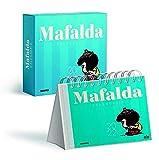 agendas para escritorio de pc gratis  Calendario 2022 Mafalda Caja- Azul