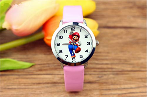 Reloj de personaje nuevo Super Kids Reloj Niños Niños Niñas Niños Estudiantes Relojes de Cuarzo Relojes de Pulsera Anime Cumpleaños GIF