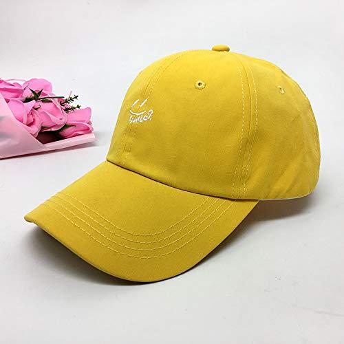 Sombrero Femenino Primavera y Verano Simple Letra Bordado Gorra de béisbol Masculino Coreano Casual Salvaje sombrilla Pareja Gorra